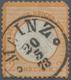 """Deutsches Reich - Brustschild: 1872 Kleiner Schild 2 Kr Orange Mit Taxis-K1 """" MAINZ 20 5 73"""" M. Krei - Germany"""