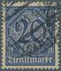 """Deutsches Reich - Dienstmarken: 1920, 20 Pfg. Dienst Mit Ziffer """"21"""" In Der Seltenen Farbe Preußisch - Servizio"""