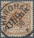 Deutsche Post In China: 1898, 3 Pf Hellockerbraun Diagonaler Aufdruck, Perfekt Und Zentrisch Entwert - Offices: China
