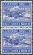 Feldpostmarken: 1944, Insel Leros: Inselpost-Zulassungsmarke, Gezähnt, Senkrechtes Paar, Obere Marke - Occupation