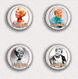 Doris Day Movie Film Fan ART BADGE BUTTON PIN SET 2  (1inch/25mm Diameter) 35 X - Kino