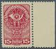 Österreich: 1919/1920, Freimarken, 15 H. Als Farbprobe In Dunkelrotlila Auf Gelblichem Papier Und Mi - 1850-1918 Impero