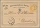 Österreich - Verwendung In Liechtenstein: 1872, Ganzsachen-Postkarte 2 Kr. Kaiserkopf Gelb, Adresse - Autriche