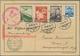 Zeppelinpost Europa: 1936, Olympiafahrt, Österreichische Post, Karte (minime Knitterspuren) Mit Bunt - Otros - Europa