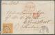 Württemberg - Marken Und Briefe: 1864, Freimarke 18 Kr Orangegelb Auf Voll Frankiertem Brief Von Hei - Wurttemberg