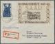 """Saarland (1947/56): 1948, """"Hochwasser-Blockpaar"""" Auf Zwei R-Briefen In Guter/sehr Guter Erhaltung. B - 1947-56 Occupazione Alleata"""