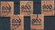 Deutsches Reich - Dienstmarken: 1923, 800 Tsd. Auf 30 Pfg. Mit Wz. Rauten, Engros-Partie Von Zehn Sa - Service