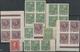 Österreich: 1908/1917, Zusammenstellung Von 97 Ungezähnten Werten Incl. Paaren Und 4er-Blocks, Auch - 1850-1918 Empire