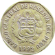 1992 10 Céntimos Peru Coin With Braille, With Chavez - Pérou