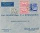 Nederlands Indië - 1934 - 145 Cent Frankering Op LP-Business Cover Van Soerabaja Naar Den Haag - Mooi Reklame Sluitzegel - Nederlands-Indië