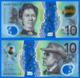 Australie 10 Dollars 2017 Polymere Australia Prefix CG Polymer Bitcoin Paypal OK - Emissioni Governative Decimali 1966-...