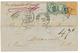1872 40c SIEGE (n°38) + 25c(n°60)x2 + Marque D' Echange FR/2F Sur Lettre Taxée Pour Le TEXAS (USA). TB. - 1849-1876: Klassik
