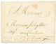 """1772 Marque Rouge """"DU"""" De La Petite Poste De BORDEAUX Avec Texte De ST PIERRE MARTINIQUE. Superbe. - Postmark Collection (Covers)"""