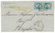 1867 20c Obl.Cachet Italien 184 + NAPOLI Sur Lettre Pour NAPLES. Signé DIENA. Superbe. - Marcophilie (Lettres)