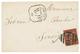 1879 25c SAGE Obl. Killer 409 + JERSEY/ FRANCE/ M.B Sur Enveloppe Pour JERSEY. Qualité Exceptionnelle. - Marcofilia (sobres)