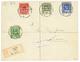 """TOGO : """"ASSAHUN - ANGLO-FRENCH OCCUPATION """" : 1916 Timbres GOLD COAST Surchargés 1/2d+ 1d+ 2d+ 2 1/2d Obl. ASSAHUN (rare - Frankrijk (oude Kolonies En Protectoraten)"""