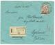 ALBANIA : 1914 5g On 1FR On REGISTERED Envelope From SCUTARI To AUSTRIA. Scarce. Vvf. - Albania