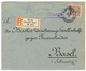 SMYRNA : 1905 2P On 40pf Canc. SMYRNA + CHARGE In Violet On REGISTERED Cover To SWITZERLAND. Superb. - Bureau: Turquie