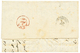 """""""IRAK - MOSSOUL"""" : 1856 Very Rare French Paquebot Cachet ALEXANDRE 26 JUIL 56 + VIA DI MARE On Entire Letter(fault) Date - Iraq"""
