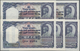 Nepal: Government Of Nepal Set With 5 Consecutive Numbered Banknotes 10 Mohru ND (1945-1951), P.3 In - Népal