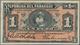 Paraguay: Pair With 1 Peso Fuerte L.1916 P.138 (XF) And 5 Pesos Fuertes L.1923 P.163 (VF). (2 Pcs.) - Paraguay