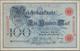 Deutschland - Deutsches Reich Bis 1945: 100 Mark 1896 MUSTER, Ro.15P Mit KN 0000000H Und Perforation - Germania