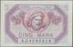 Deutschland - Nebengebiete Deutsches Reich: Saar 5 Mark 1947, Ro.869, Sehr Schöne Note Mit Leichten - Allemagne