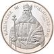 Polen: Lot 2 Münzen: 500 Zlotych 1987, Kazimierz III. Wielki 1333-1370, KM# Y 173, Fischer K 050; Da - Pologne