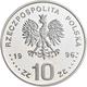 Polen: 10 Zlotych 1996, Zygmunt II. August, KM# Y 307, Fischer K (10) 004. Polierte Platte. - Pologne