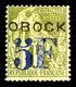 * N°31, 5f Sur 1f, Tirage 600 Exemplaire. SUP. R. (certificat)  Qualité: *  Cote: 900 Euros - Obock (1892-1899)