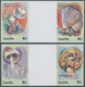 "Thematik: Pilze / Mushrooms: 2001, Lesotho. Complete Set ""Mushrooms"" In 2 Horizontal Gutter Pairs Sh - Pilze"