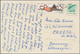 """Thematik: Sport-Tischtennis / Sport-table Tennis: 1961, Table-tennis 10 F. With Def. 3 F. Tied """"Peki - Tafeltennis"""