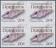 Thematik: Tiere-Meerestiere / Animals-sea Animals: 2006, Dominica. Imperforate Block Of 4 For The 20 - Maritiem Leven