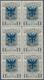 Albanien: 1920, Prince William Of Wied 1q. Grey With Blue Opt. 'SHKODRA' Block Of Six, Mint Never Hi - Albanie