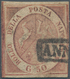 Italien - Altitalienische Staaten: Neapel: 1859. 50 Grana Brownish-rose, Cancelled With Part Of Fram - Napels