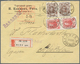 Russland: 1913, 2 X 3 K Red And 2 X 7 K Brown Romanov, Mixed Franking On Registered Cover With Boxed - 1857-1916 Empire