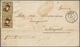 Schweiz: 1850, Briefkuvert Von Olten Nach NEAPEL Via Mailand, Frankiert Mit Zwei Einzelmarken Rayon - Non Classificati