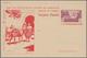Spanien - Ganzsachen: 1944. Picture Postcard 20c Lilac Murallas De Tetuán (+5c Red Pro Mutilado De À - 1850-1931