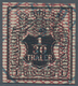 Hannover - Marken Und Briefe: 1850, 1/30 Thaler/1 Sgr. Schwarz Mit Netzwerk In Rotkarmin Entwertet M - Hannover