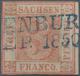 Sachsen - Marken Und Briefe: 1850, 3 Pfg. Rot, Platte 1, Type 10, Farbfrisches Exemplar, Rechts Brei - Saxe
