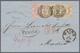 Thurn & Taxis - Marken Und Briefe: 1866, 21-Kreuzer-Frankatur Nach Spanien, Bestehend Aus 3 Kr. Karm - Thurn En Taxis