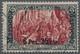 Deutsche Post In Marokko: 1900/1903, 6P25C Auf 5 M Type I/IV Nachmalung Deckweiß, Gestempelt, Mi 700 - Ufficio: Marocco