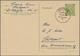 """Bizone - Ganzsachen: 1945, Ortskarte 5 Pfg. Hellgrün Bedarfsgebraucht Von """"STUTTGART 9.11.45"""" Mit Rs - Amerikaanse-en Britse Zone"""