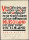 """Ansichtskarten: Propaganda: 1937, """"Bekenntnis Deutschland"""" Zitat Von Adolf Hitler, Postalisch Gelauf - Political Parties & Elections"""