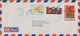Laos: 1982/1985, Year Date Surcharges, Lot Of Four (mainly Airmail) Covers To Germany Resp. To USA. - Laos