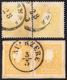 1859 - 2 Soldi Giallo, II Tipo E 2 Soldi Giallo Vivo (28,28a), Coppie, Usate, Perfette. Raybaudi, So... - Lombardy-Venetia