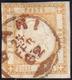 BARI, Cerchio Piccolo Rosso Punti R2 - 10 Grana (22d), Perfetto Usato Il 25/2/1862. UNICO ESEMPLARE ... - Naples