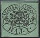 1858 - 1 Baj Verde Scuro, I Composizione (2A), Gomma Originale, Perfetto. A.Diena. Ex Coll. Andreott... - Papal States
