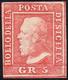 1859 - 5 Grana Rosa Carminio, I Tavola (9), Gomma Originale, Perfetto. Molto Fresco! Cert. Diena.... - Sicilië