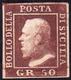 1859 - 50 Grana Cioccolato (14a), Gomma Originale, Perfetto.... - Sicilië